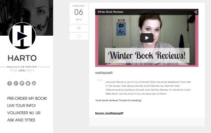 Me on Hannah's website